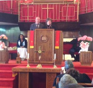 Gary and Karen share at Tasker Street Baptist, S. Philly