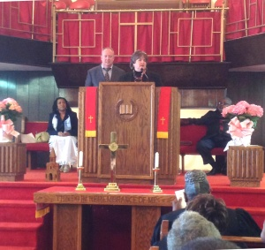 Gary and Karen share at Tasker Street Baptist, S. Philly